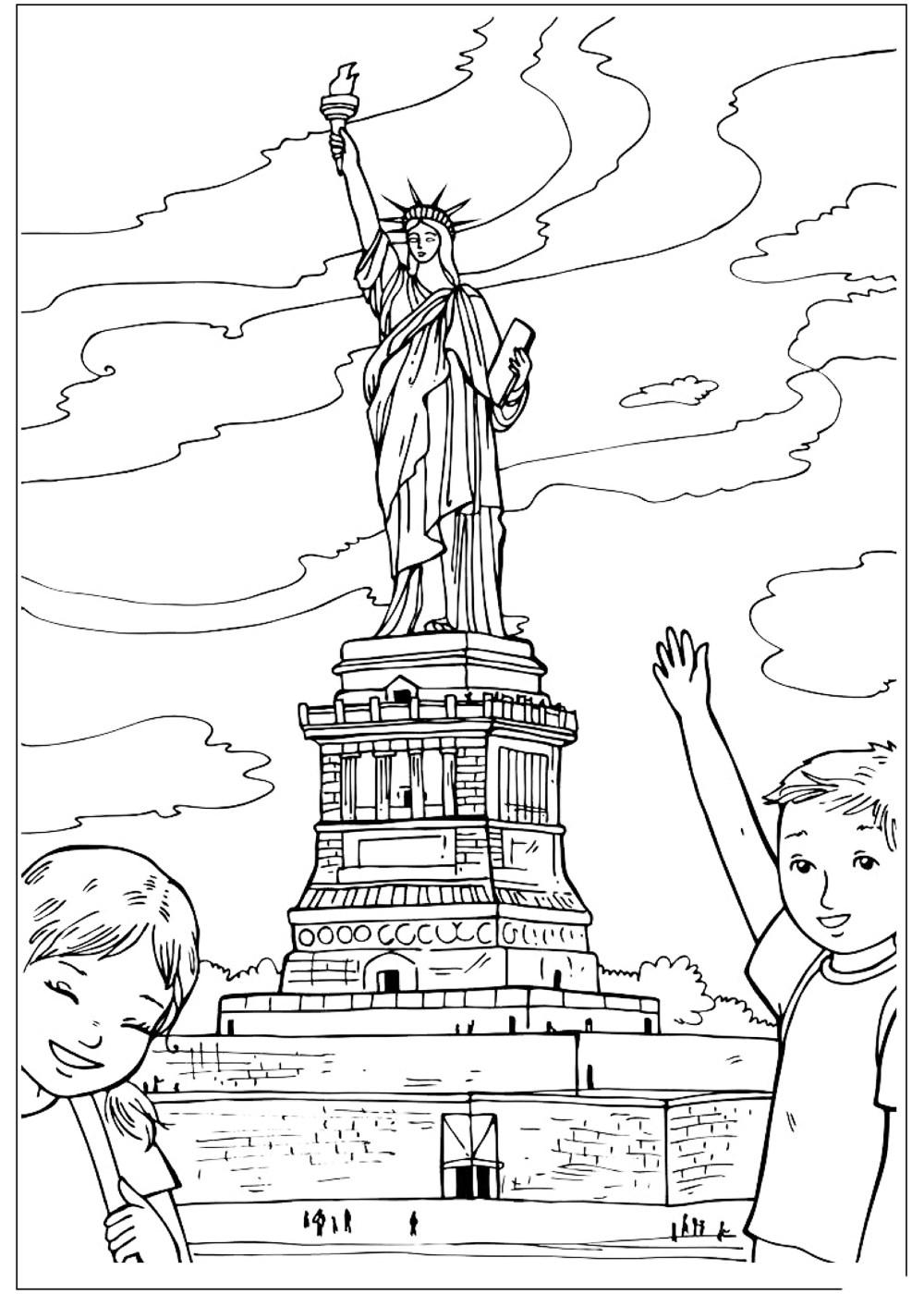 Раскраски Америка | Интересные