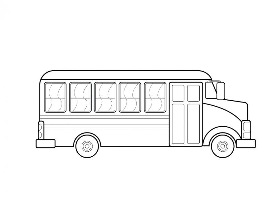 Автобус раскраска   Интересные