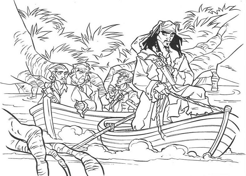 Раскраски Пираты Карибского моря | Интересные