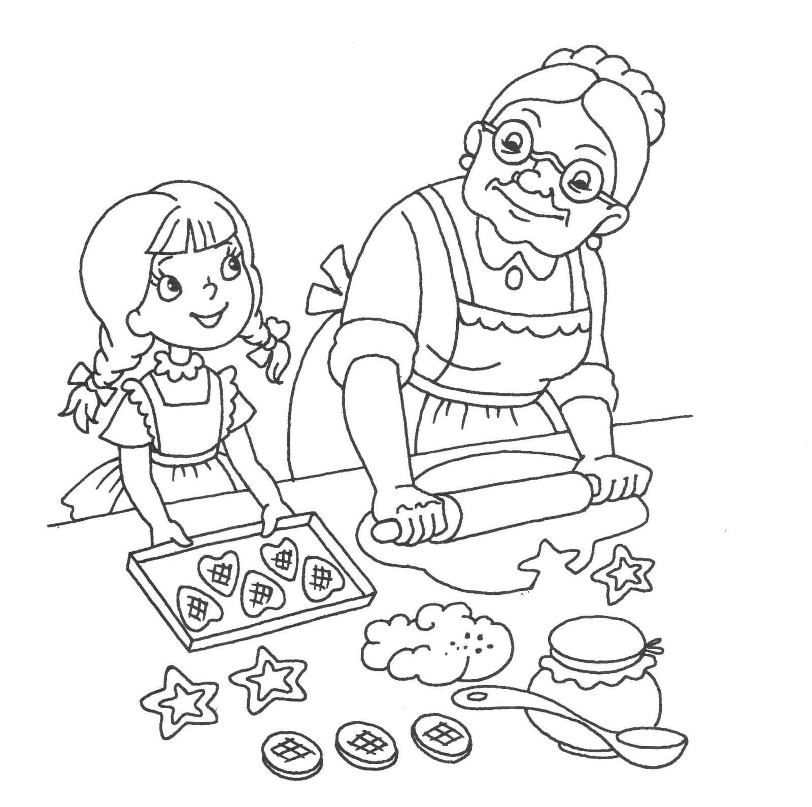 Раскраска бабушка | Интересные