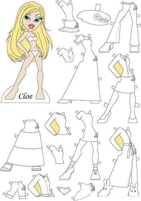 Раскраска Бумажная кукла   Раскраски для девочек