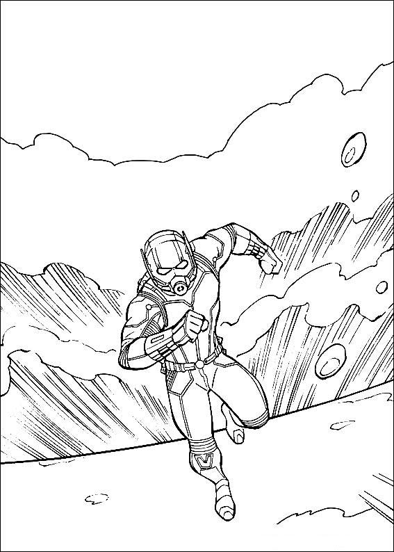 Раскраска Человек-муравей | Раскраски для мальчиков