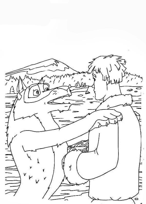 Раскраски Иван Царевич и Серый Волк