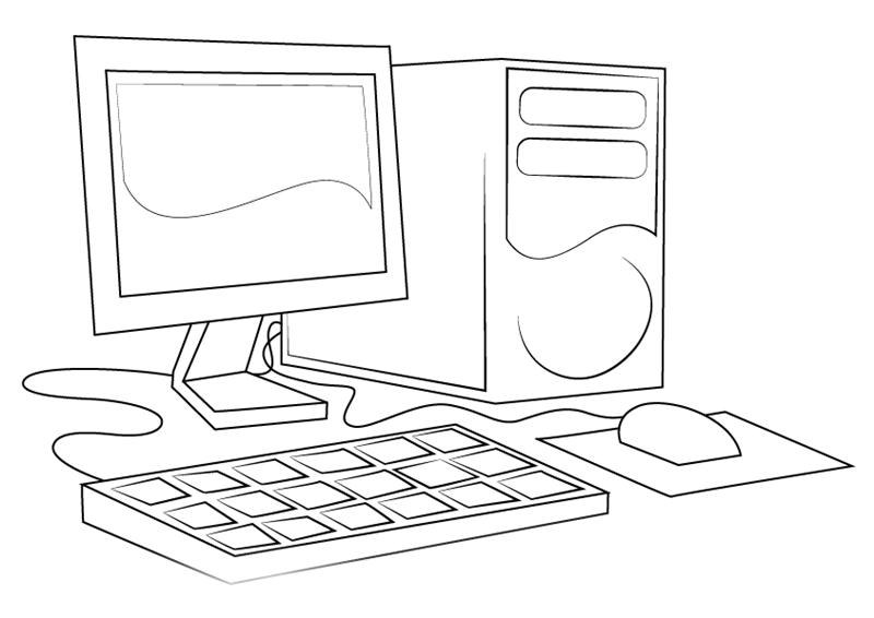Raskraska Kompyuter Interesnye