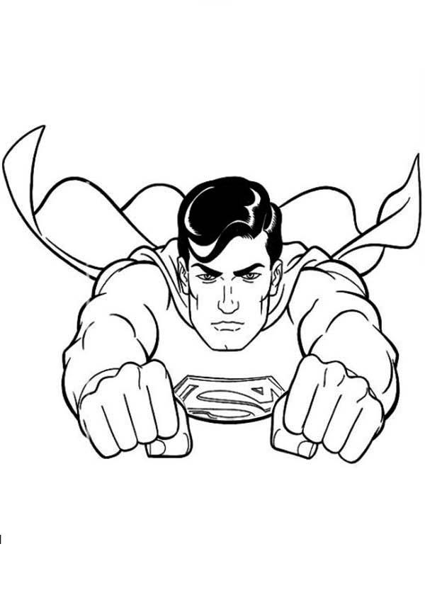 Раскраска Супермен | Раскраски для мальчиков