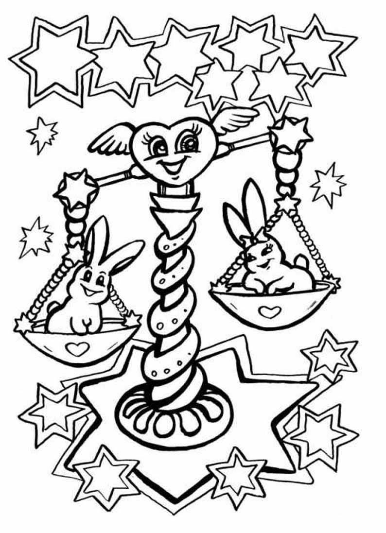 Раскраска Знаки зодиака | Интересные