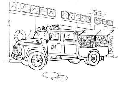 Раскраски машин для мальчиков