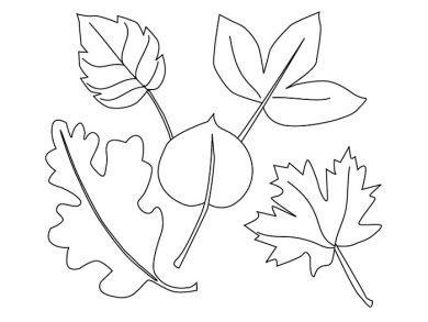 Раскраска осень золотая   Времена года